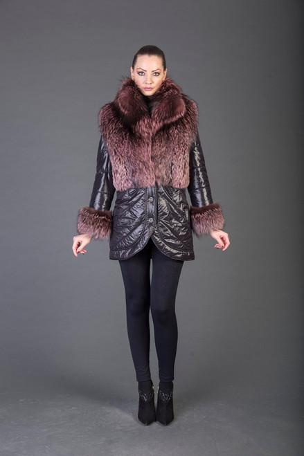 Pink Racoon Fur coat