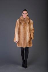tan Racoon Fur stroller full skin
