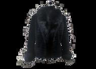 Sheared Black Beaver Fur Jacket Fox Collar & Cuffs