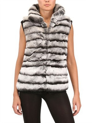 Rex Fur Vest Chinchilla Style Colored