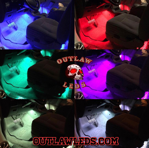 4 RGB Piece Footwell Interior 12'' Light Strips