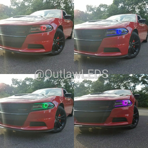 2015-17 Charger Double Halo Headlights