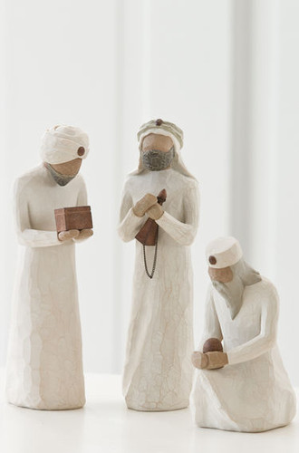 Willow Tree Nativity (R) - The Three Wisemen (set of three) - 'They followed a star and found the Light of the World'