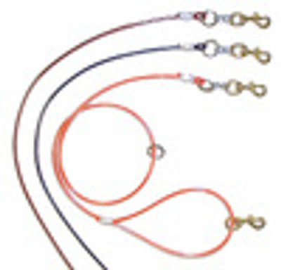 Coated Cable Lead (Brass snap on each end)