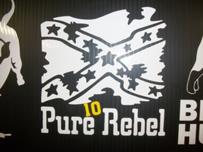 """Pure Rebel"" Window Decal"