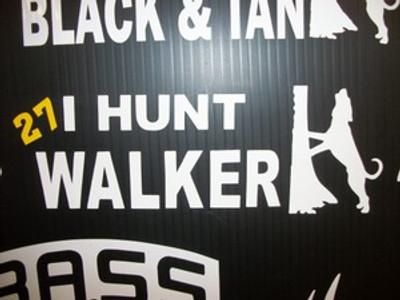 """I Hunt Walker"" Window Decal"