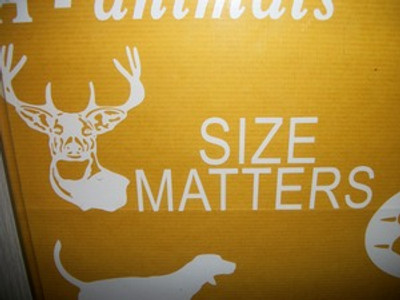 """""""Size Matters"""" Window Decal (With Buck Head)"""