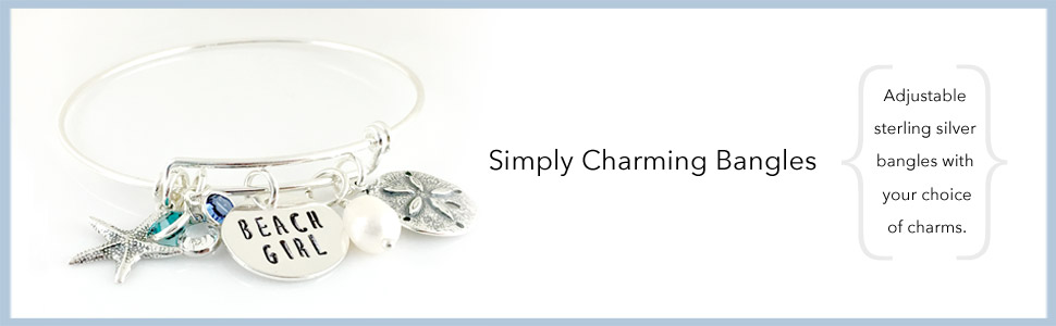 Simply Charming Sterling Silver Bangles