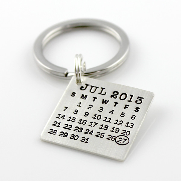 Mark Your Calendar Keychain