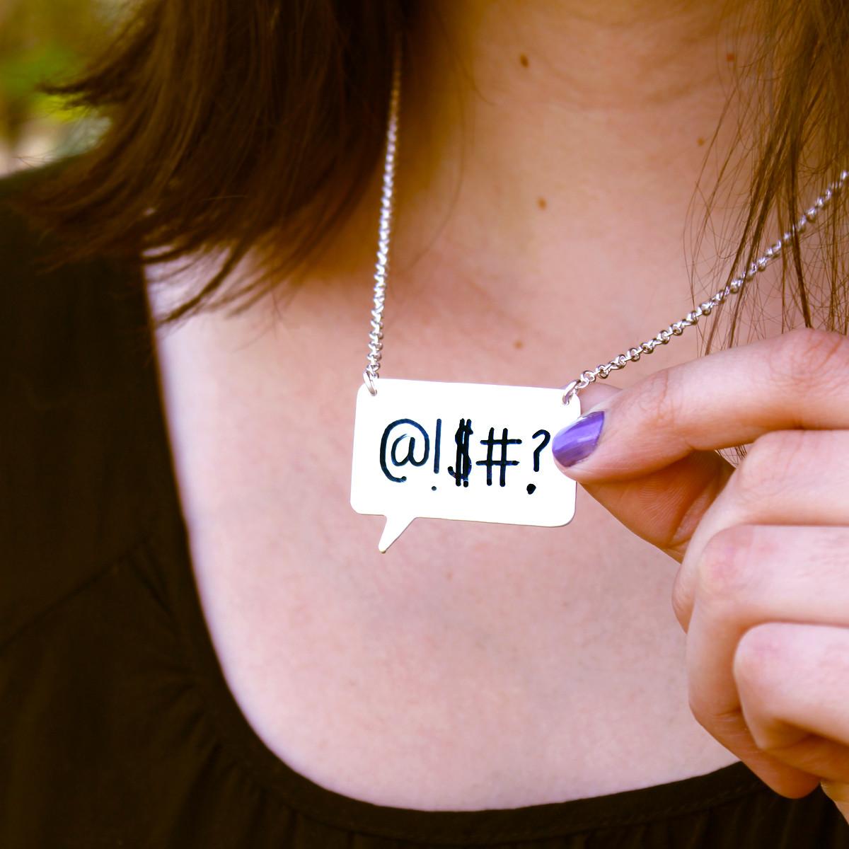 Write On/Wipe Off Speech Bubble Necklace