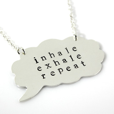 Tattle Tales Personalized Thought Bubble Necklace
