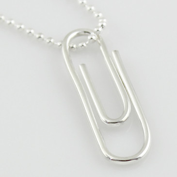 Paper Clip Necklace Sterling Silver