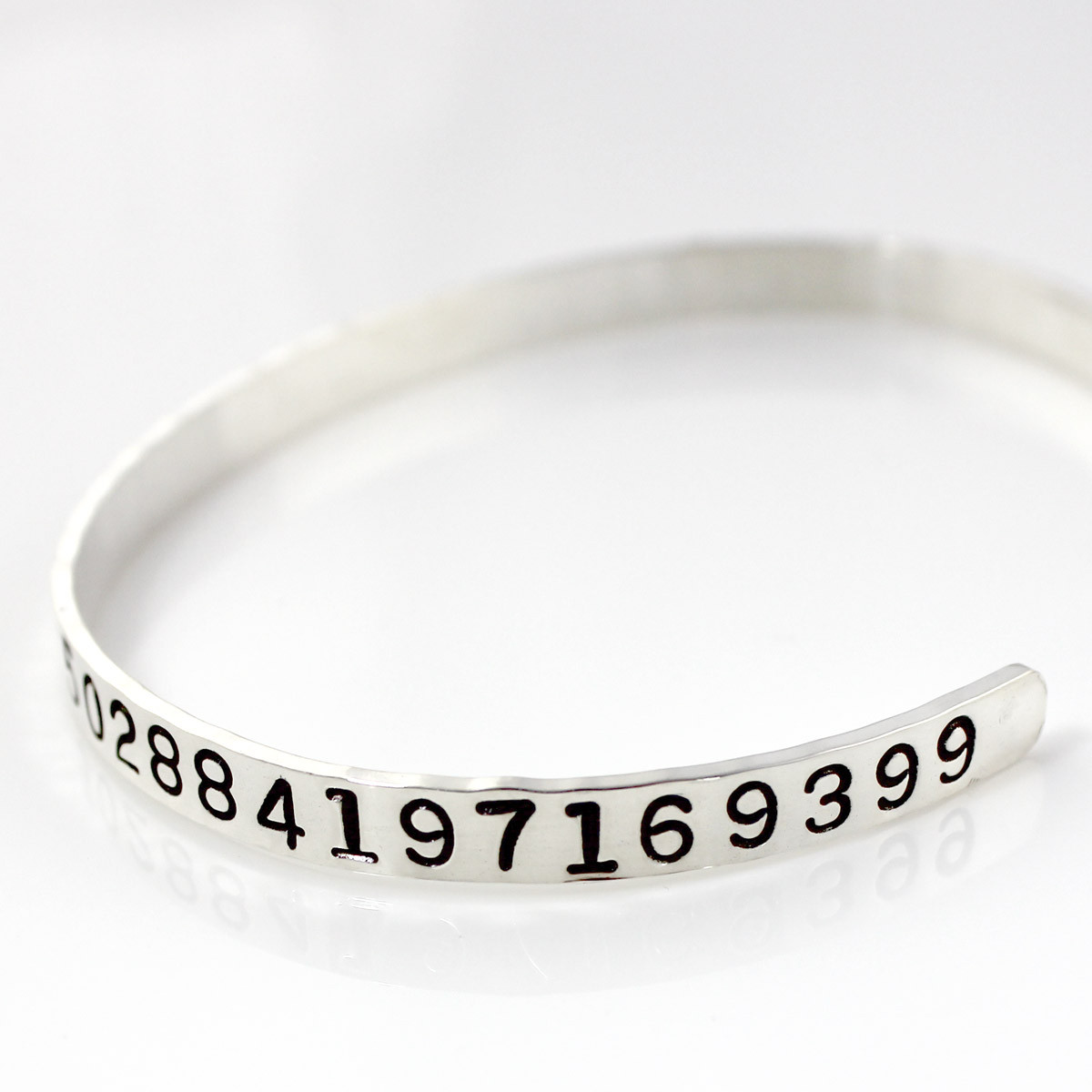 Pi Handstamped Cuff Bracelet
