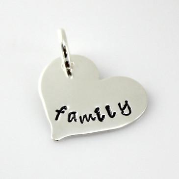 Add a 'Family' Heart Charm