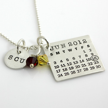 Mark Your Calendar Necklace with Graduation Charm
