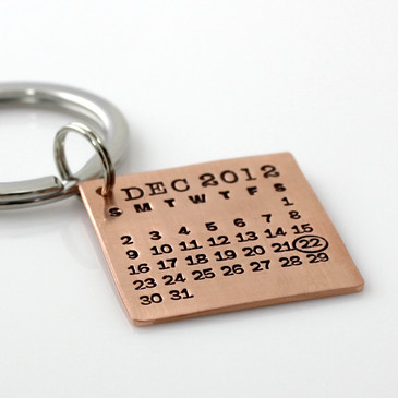 Mark Your Calendar Key Chain - Copper