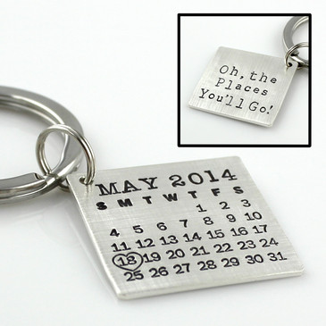 Mark Your Calendar Key Chain - Oh, the Places You'll Go!