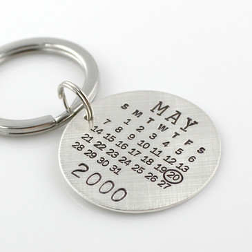 Mark Your Calendar Key Chain - Round