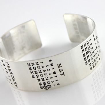 Mark Your Calendar Cuff Bracelet - Multiple Calendars