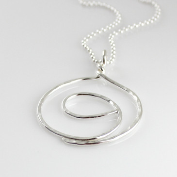 Gratitude Symbol Sterling Silver Necklace