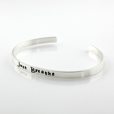 Just Breathe Sterling Cuff Bracelet
