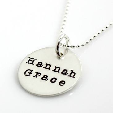 Simple Name Necklace - American Typewriter