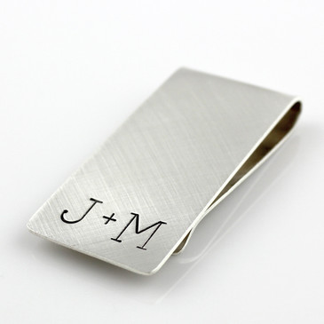 You + Me Sterling Silver Money Clip
