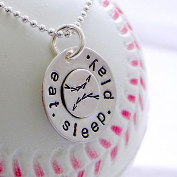Eat. Sleep. Play. Baseball Necklace