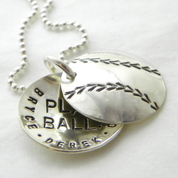 Baseball Personalized Faux Locket - Play Ball