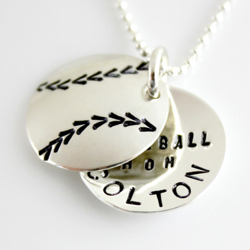 Baseball Mom Personalized faux locket