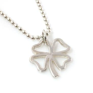 Four Leaf Clover Simple Charm Necklace