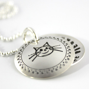 Cat Lover's Personalized Faux Locket