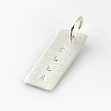 Add a Simple Name Tag - Short Silver
