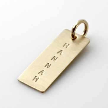 Add a Simple Name Tag - Short Gold Filled