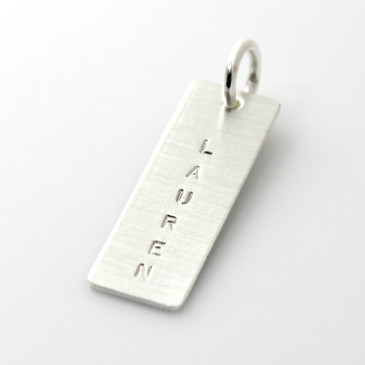 Add a Simple Name Tag - Long Silver