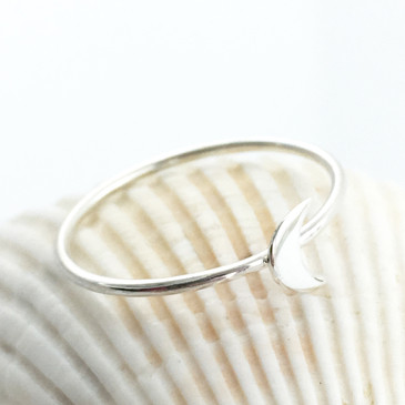 Moon Ring in Sterling Silver