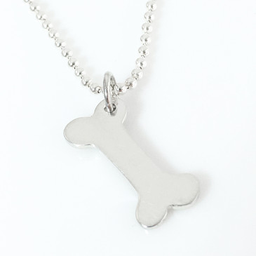 Dog Bone Simple Charm Necklace