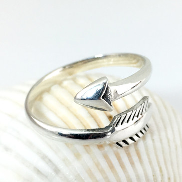 Arrow Ring in Sterling Silver - adjustable  (Ready to Ship)