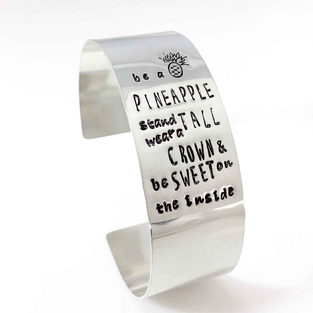 Be a Pineapple Quote Cuff Bracelet