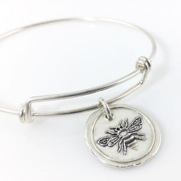 Honey Bee | Wax Seal Inspired Bangle Bracelet