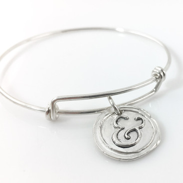 Ampersand Wax Seal Inspired Bangle Bracelet