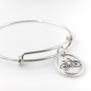 Bicycle Wax Seal Inspired Bangle Bracelet