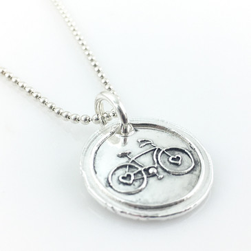 Bicycle Wax Seal Inspired Necklace
