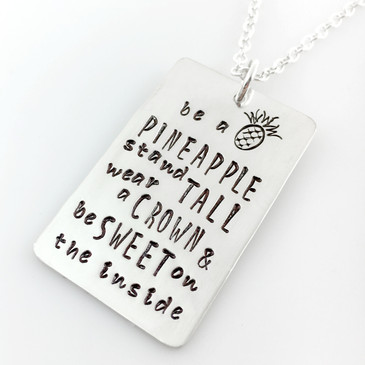 Be a Pineapple Quote Necklace