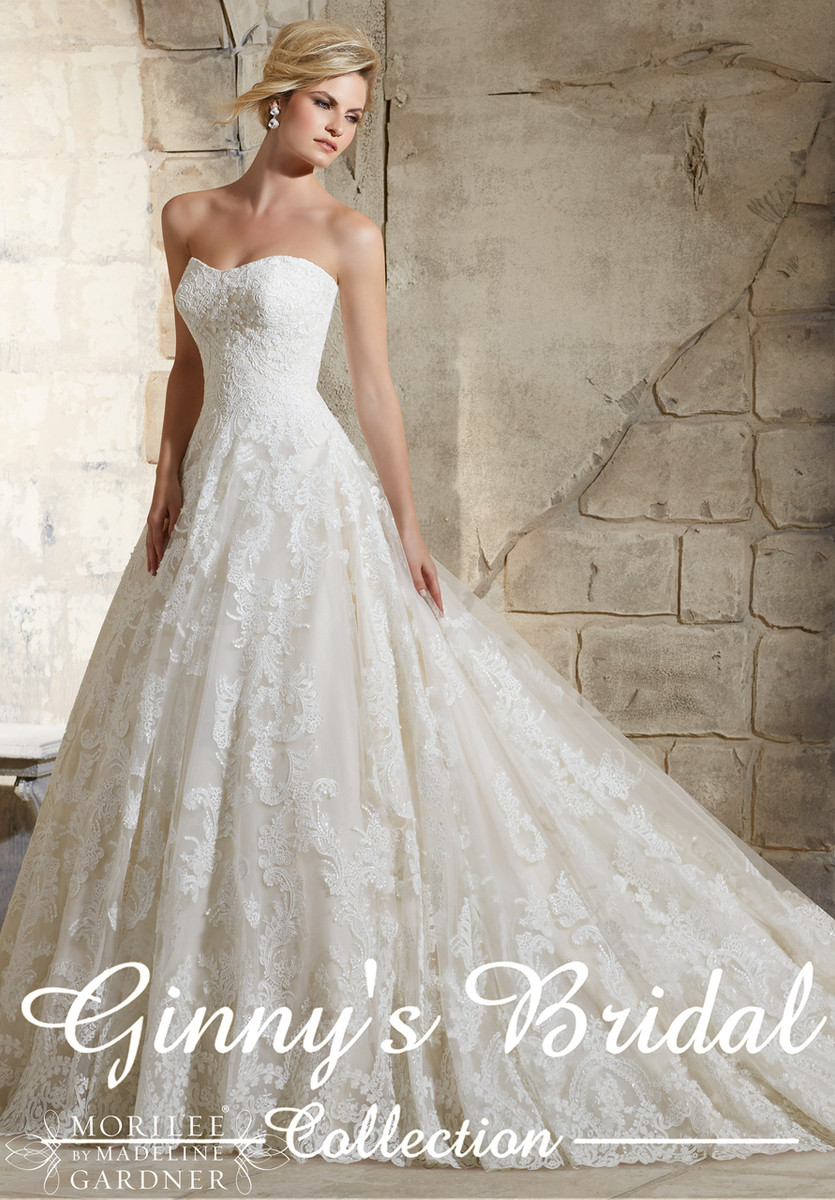 Mori lee wedding dress 2787 at affordable price ginnys for Mori lee wedding dress prices