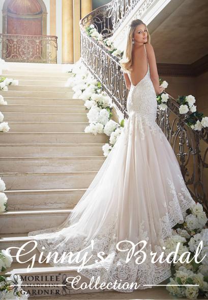 Mori lee wedding dress 2871 at affordable price ginnys bridal mori lee bridal dress 2871 image 1 junglespirit Image collections