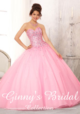 Vizcaya by Mori Lee Quinceanera Dress 88084, Pucker Up Pink, Size 12 on SALE