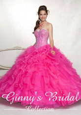 Vizcaya by Mori Lee Quinceanera Dress 88001, Hot Pink, Size 8 on SALE