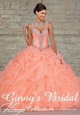Vizcaya by Mori Lee Quinceanera Dress 89023, Coral, Size 10 on SALE