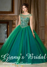 Vizcaya by Mori Lee Quinceanera Dress 89104, Kelley Green,Size 10 on SALE